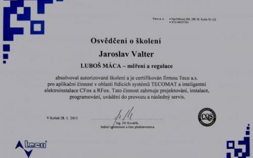 TECO certifikát