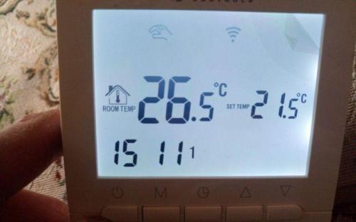 Wifi termostat - ovládací panel