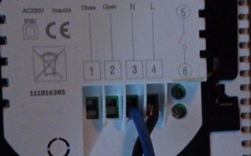 Wifi termostat - připojení