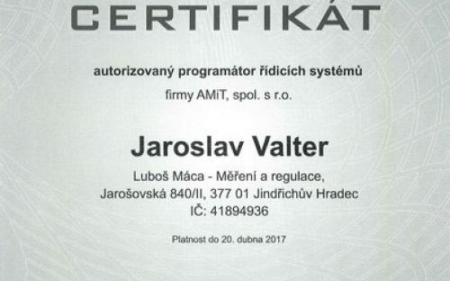 CERTIFIKÁT programátora 2015
