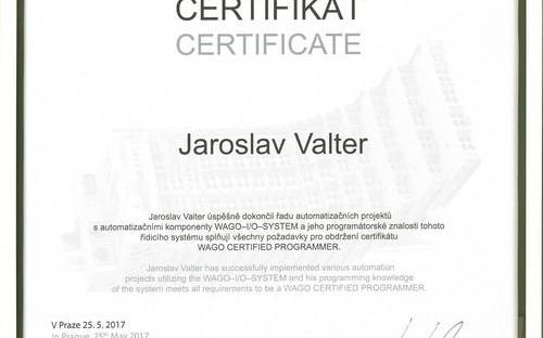 WAGO certifikát 2017