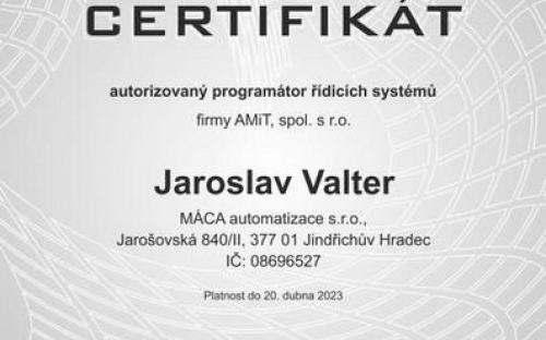 CERTIFIKÁT programátora 2021