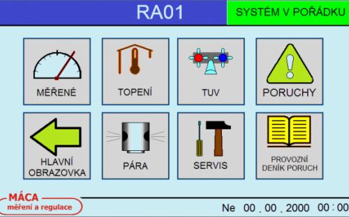 Startovací obrazovka