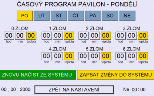 Časový program