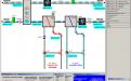 Topení, větrání, chlazení venkovním vzduchem, vodní plynulé chlazení centrální vzduchotechniky pro budovu